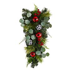 """Nearly Natural 26"""" Holiday Christmas Greenery Ornament Artificial Swag"""