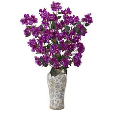 "Nearly Natural 39"" Bougainvillea Arrangement in a Decorative Vase"