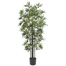 Nearly Natural 6' Bamboo Silk Tree Green Trunks