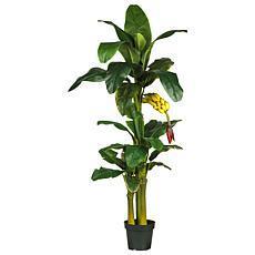 Nearly Natural 6 ft. Triple Stalk Banana Tree