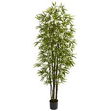 Nearly Natural 7 ft. 10-Trunk Green Bamboo Tree