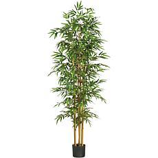 "Nearly Natural 75"" Bamboo Silk Tree"