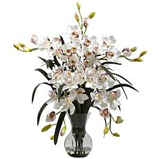 Nearly Natural Large Silk Cymbidium Flower Arrangement