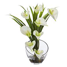 Nearly Natural Silk Calla Lily Arrangement