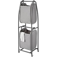 neatfreak 2-Tier Rolling Vertical Laundry Sorter w/EVERFRESH Hampers