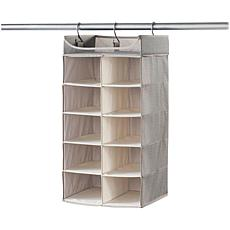 neatfreak Harmony Twill Collection Hanging 2x5 Cubby Closet Organizer