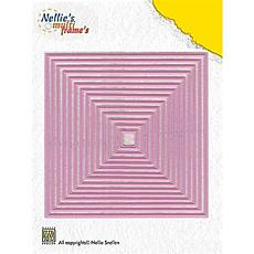 Nellie's Choice Multi Frame Dies - Straight Square