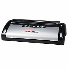 Nesco VS-02 130 Watt, Black & Silver Food Sealer with Bag Cutter