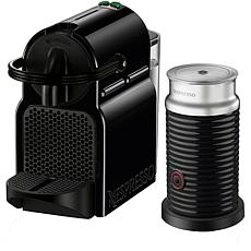 Nespresso Inissia Black Single-Serve Espresso Machine w/Milk Frother