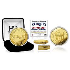 New England Patriots 2017 AFC East Division Champions Gold Mint Coin