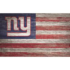 New York Giants Distressed Flag 11x19