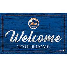 """New York Mets Team Color Welcome Sign - 11x19"""""""