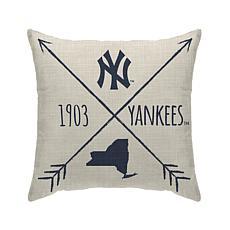 "New York Yankees 18""X18"" Duck Cloth  Décor Pillow"