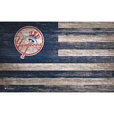 New York Yankees Distressed Flag 11x19