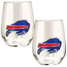 NFL 2-piece Wine Glass Set - Buffalo Bills
