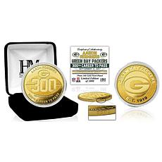 NFL Aaron Rodgers 300th Career Touchdown Gold Mint Coin