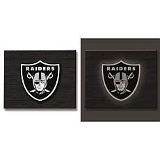 NFL Backlit Wood Plank Wall Sign - Raiders