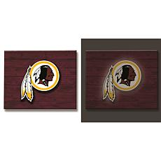 NFL Backlit Wood Plank Wall Sign - Redskins