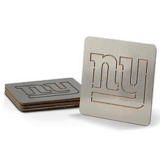 NFL Boasters 4-piece Coaster Set - New York Giants