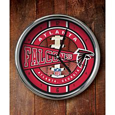NFL Chrome Clock - Falcons