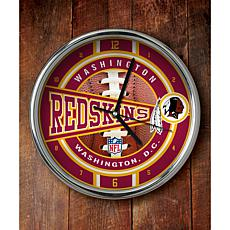 NFL Chrome Clock - Redskins