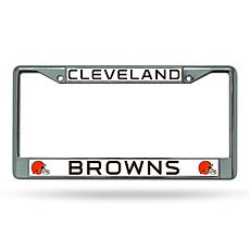 NFL Chrome License Plate Frame - Browns