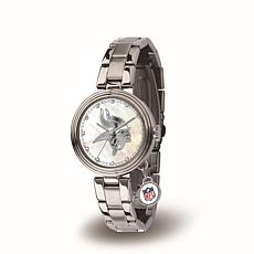 NFL Crystal Charm Watch - Minnesota Vikings