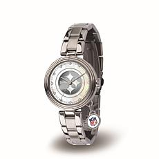 NFL Crystal Charm Watch - Pittsburgh Steelers