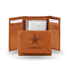 NFL Embossed Trifold Wallet - Cowboys