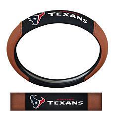 NFL Houston Texans Sports Grip Steering Wheel Cover