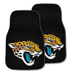 NFL Jacksonville Jaguars 2-piece Carpet Car Mat Set