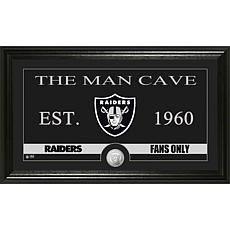 "NFL ""Man Cave"" Bronze Coin Panoramic Photo Mint-Raiders"