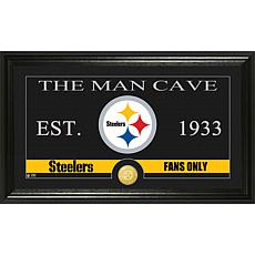 NFL Man Cave Bronze Coin Panoramic Photo Mint-Steelers