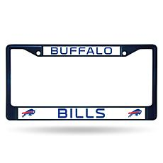 NFL Navy Chrome License Plate Frame - Bills