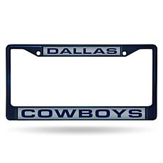 NFL Navy Laser-Cut Chrome License Plate Frame - Cowboys