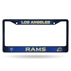NFL Navy Retro Chrome License Plate Frame - Rams