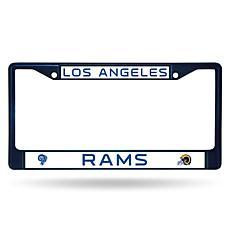 NFL Navy/White Chrome License Plate Frame - Rams