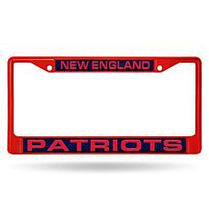 NFL Red Laser-Cut Chrome License Plate Frame -  Patriots