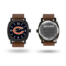 """NFL Sparo """"Knight"""" Faux Leather Strap Personalized Watch - Bears"""