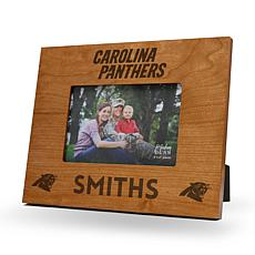 NFL Sparo Personalized Engraved Wood Picture Frame - Panthers