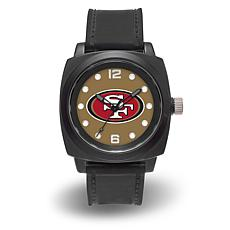 "NFL Sparo Team Logo ""Prompt"" Black Strap Sports Watch - 49ers"