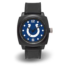 "NFL Sparo Team Logo ""Prompt"" Black Strap Sports Watch - Colts"