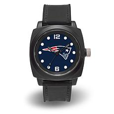 "NFL Sparo Team Logo ""Prompt"" Black Strap Sports Watch - Patriots"