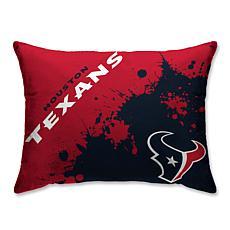 "NFL Splatter Print Plush 20"" x 26"" Bed Pillow - Houston Texans"