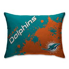 "NFL Splatter Print Plush 20"" x 26"" Bed Pillow - Miami Dolphins"