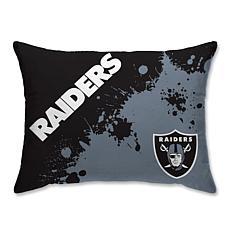 "NFL Splatter Print Plush 20"" x 26"" Bed Pillow - Oakland Raiders"