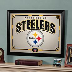 NFL Sports Team Framed Mirror - Pittsburgh Steelers