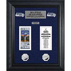 NFL Super Bowl Champs Replica Ticket and Coin-Seahawks