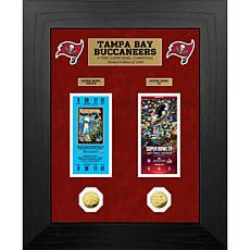 NFL Tampa Bay Buccaneers 2-Time Super Bowl Champs Gold Coin & Tickets