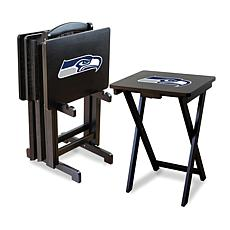 NFL Team Logo Set of 4 TV Trays with Stand - Seahawks